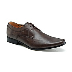 Front - Brown 'Rossi' formal shoes