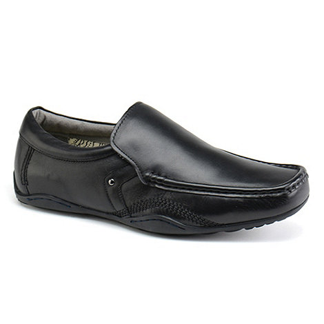 Front - Mens black +Dario+ loafers moccs shoes