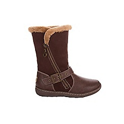 Pixie - Brown Poppy 2 In 1 Chestnut Boots