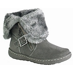 Pixie - Grey poppy two in one mid boots