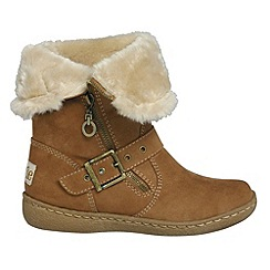 Pixie - Camel poppy two in one mid boots