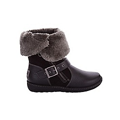 Pixie - Black Poppy 2 In 1 Charcoal Boots