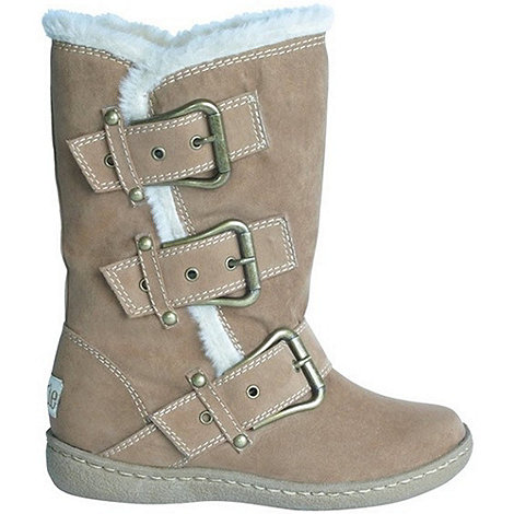 Pixie - Camel daisy buckled mid boots