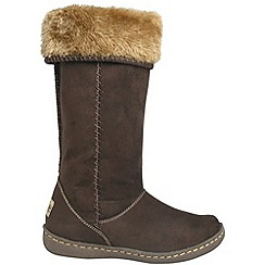 Pixie - Chocolate holly faux fur mid boots