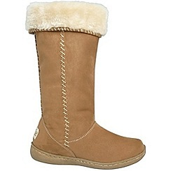 Pixie - Camel holly faux fur mid boots