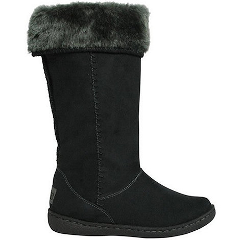 Pixie - Womens black holly mid boots