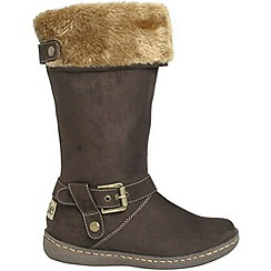Pixie - Chocolate lilly faux fur mid boots