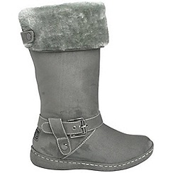 Pixie - Grey lilly faux fur mid boots