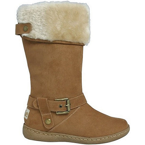 Pixie - Camel lilly faux fur mid boots