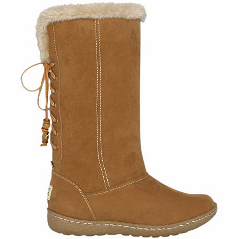 Pixie - Camel rosie faux fur topped mid boots