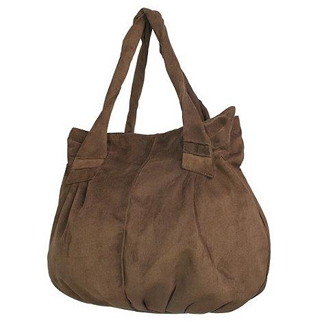 Pixie - Dark brown poppins handbag