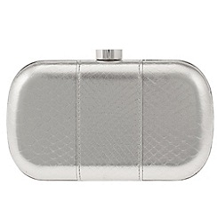 Parfois - Silver patchy clutch