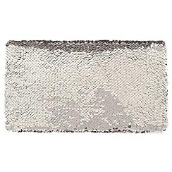 Parfois - Silver shiny clutch