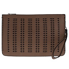 Parfois - Taupe Fresh perforated clutch