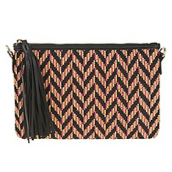 Parfois - Yellow Zigzag clutch