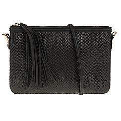 Parfois - Black Zigzag clutch
