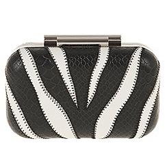 Parfois - Black 'Zebr'a clutch