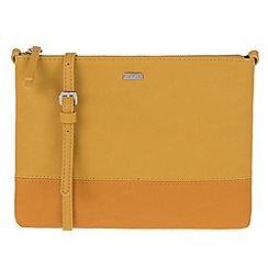 Parfois - Yellow 'Bicolor' papaya cross bag