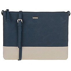 Parfois - Navy 'Bicolor' papaya cross bag