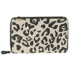 Parfois - Cream all in print wallet