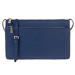 Parfois - Blue 'Xis' cross bag