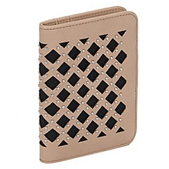 Parfois - Beige troki rivet document wallet