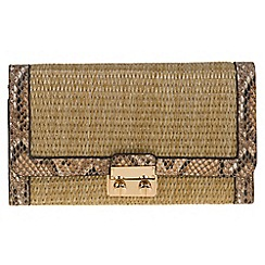 Parfois - Beige 'Lola' straw wallet