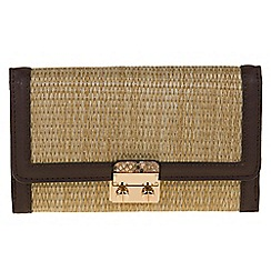 Parfois - Brown 'Lola' straw wallet