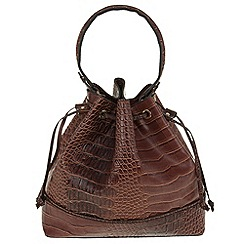 Parfois - Brown 'Crak nora' handbag