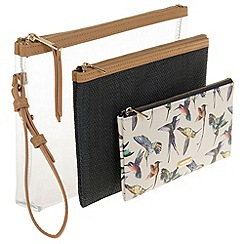 Parfois - Bird set cosmetic purse