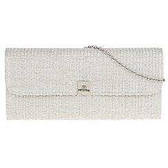 Parfois - Silver 'Arch' clutch bag
