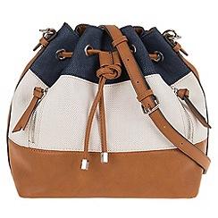Parfois - Blue straw handbag