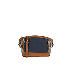 Parfois - Blue straw cross bag
