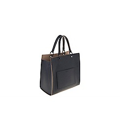 Parfois - Hand bag pvc plain shopper navy