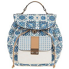 Parfois - Blue 'Tunis' backpack