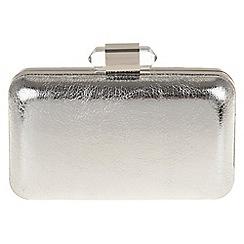 Parfois - Silver 'Bullet' clutch bag