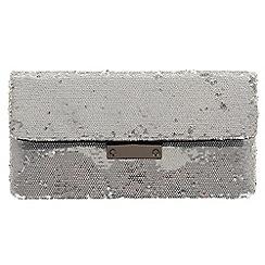 Parfois - Silver 'Jail' clutch