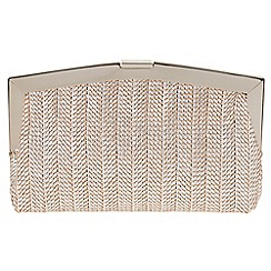 Parfois - Silver 'Roof' clutch bag