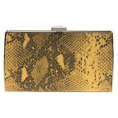 Parfois - Yellow 'Santa' clutch