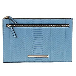 Parfois - Mid blue 'French' set multi-purpose pouch