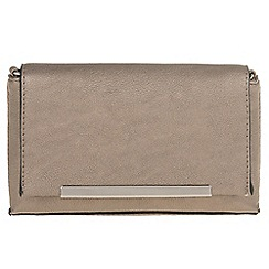 Parfois - Silver 'Puf' cross bag