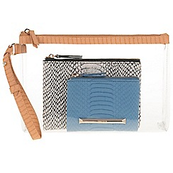 Parfois - Pale Yellow 'French' set cosmetic purse