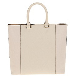 Parfois - Beige 'Reptil' shopper bag