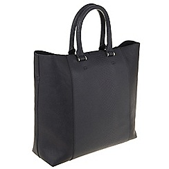 Parfois - Navy 'Reptil' shopper bag