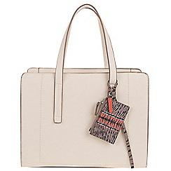 Parfois - Beige 'Reptil' plain briefcase