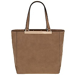 Parfois - Taupe 'Bar' cross bag