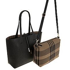 Parfois - Black all in fabric shopper