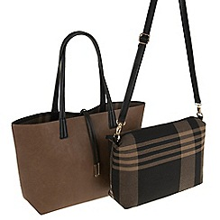 Parfois - Brown all in fabric shopper