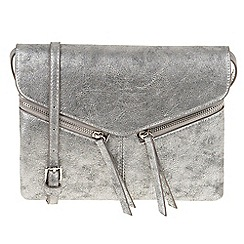 Parfois - Silver 'Ginger' cross bag