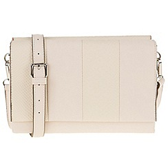 Parfois - Beige 'Reptil' plain cross bag